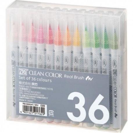 Pennarelli Clean Color - Set 36 colori di Kuretake