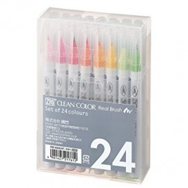 Pennarelli Clean Color - Set 24 colori di Kuretake