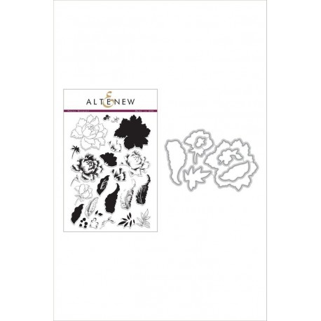Peony Bouquet Stamp & Die Bundle - Timbro e fustella di Altenew