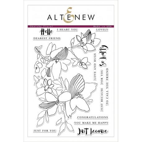 Sketchy Floral Stamp Set - Timbro di Altenew