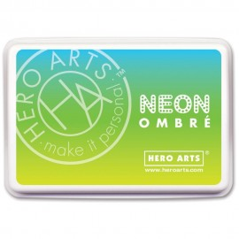 Chartreuse to Blue - Neon Ombre - Inchiostro Hero Arts