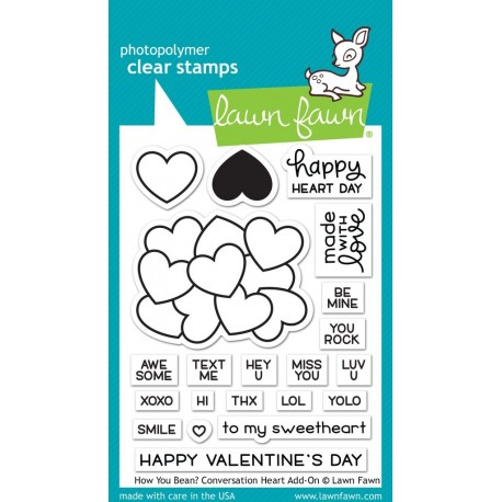 How you bean? conversation heart add-on - Timbro Lawn Fawn