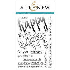 Timbri di Altenew Halftone Happy Stamp Set