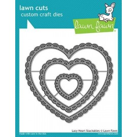 Lacy heart stackables - Fustella Lawn Fawn