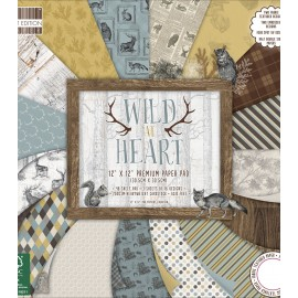 "Blocco di carte First Edition Paper 12""x12"" - ""Wild at Heart"""