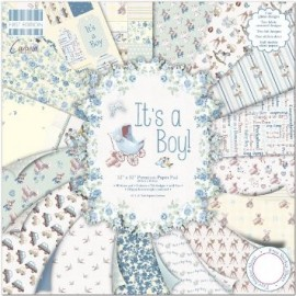 "Blocco di carte First Edition Paper 12""x12"" - ""It's a Boy"""