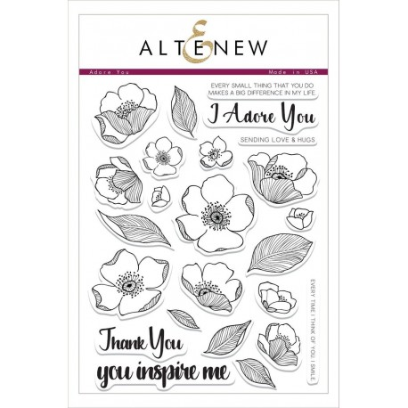 Adore You Stamp Set -  Timbro di Altenew