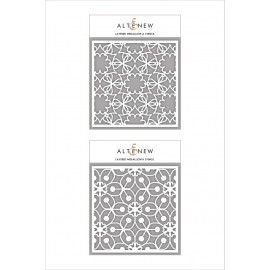 Layered Medallion A & B Stencil Bundle di Altenew
