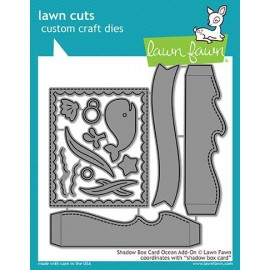 Shadow box card ocean add-on- Fustella Lawn Fawn