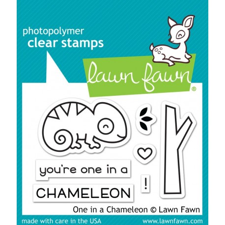 One in a chameleon - Timbro Lawn Fawn
