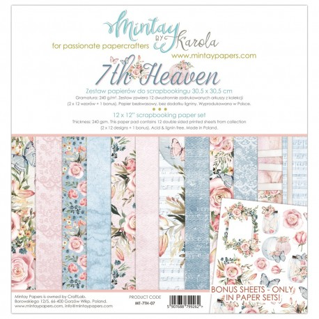 "Carta per scrapbooking di Mintay by Karola -  ""7th Heaven"""
