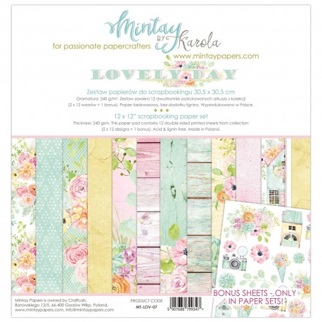 "Carta per scrapbooking di Mintay by Karola -  ""Lovely day"""