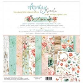 "Carta per scrapbooking di Mintay by Karola -  ""Birdsong"""