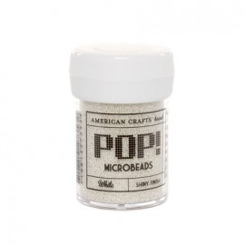 American Crafts - Pop! - Microbeads - White