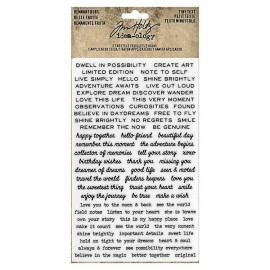 Tim Holtz Idea-ology Remnant Rubs - Tiny Text