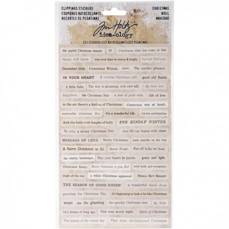 Tim Holtz - Idea-ology Collection - Clippings Stickers