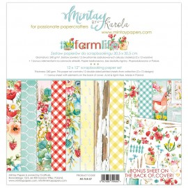"Carta per scrapbooking di Mintay by Karola -  ""Farmlife"""