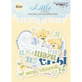 "Ephemera - Abbellimenti di carta ""Little bear"""