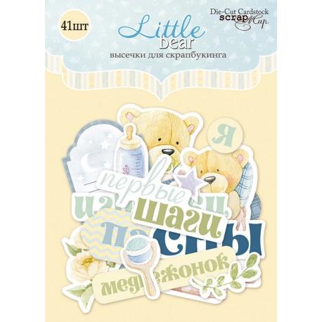 "Ephemera - Abbellimenti di carta ""Little bear"""