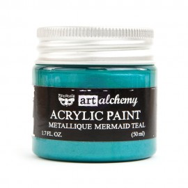 "Prima Marketing Finnabair Art Alchemy vernice acrilica metallica - ""Mermaid Teal"""