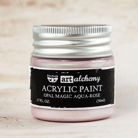 "Prima Marketing Finnabair Art Alchemy vernice acrilica opal magic - ""Aqua-Rose"""