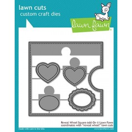Reveal wheel square add-on - Fustella Lawn Fawn