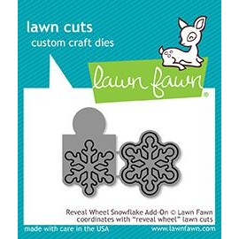 Reveal wheel snowflake add-on - Fustella Lawn Fawn