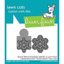 Reveal wheel snowflake add-on - Fustella Lawn Fawn