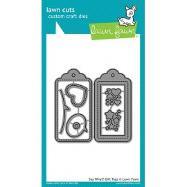 Say what? gift tags - Fustella Lawn Fawn