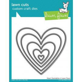 Heart Stackables - Fustella Lawn Fawn