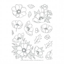 Winter Aneone  - Timbro di Honey Bee Stamps