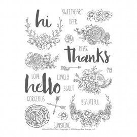 Hello Gorgeous - Timbro di Honey Bee Stamps
