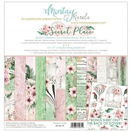 "Carta per scrapbooking di Mintay by Karola -  ""Secret Place"""