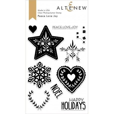Peace Love Joy Stamp Set - Timbro e Fustella di Altenew