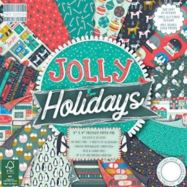 "Blocco di carte First Edition Paper 12""x12"" - ""Jolly Holidays"""