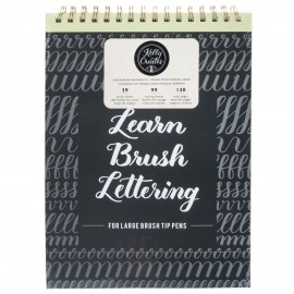 Learn Brush Workbook - Quaderno per lettering