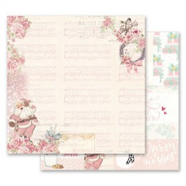 "Carta per scrapbooking di Prima Marketing 12x12""  Santa Baby Collection"
