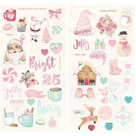 Chipboard Stickers  di Prima Marketing - Santa Baby Collection