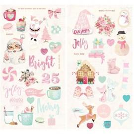 Chipboard Stickers  di Prima Marketing - Santa Baby Collection