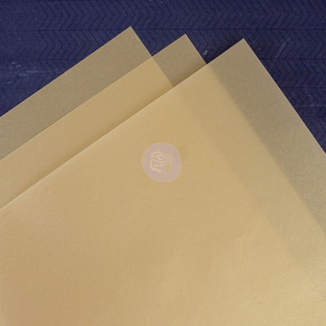 Vellum Sheets- Gold di Prima Marketing