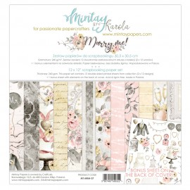 "Carta per scrapbooking di Mintay by Karola -  ""Marry Me"""