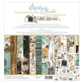 "Carta per scrapbooking di Mintay by Karola -  ""Life Stories"""