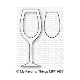 Wine Glass Shaker Window & Frame - Fustella di MFT Stamps