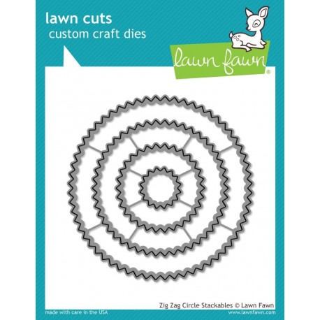 Zig Zag Circle Stackables - Fustella Lawn Fawn