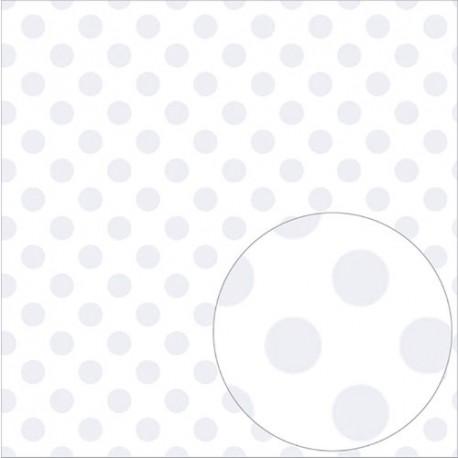 Foglio di Acetato  White Dot 12 x 12 - Bazzill Basics