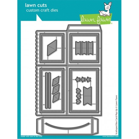 Scalloped Box Card Pop-Up- Fustella Lawn Fawn