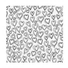 Foglio di Acetato Hearts 12 x 12 - American Crafts