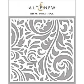 Elegant Swirls - Stencil di Altenew
