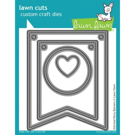Stitched Party Banners - Fustella Lawn Fawn