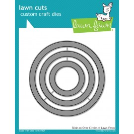 Slide On Over Circle - Fustella Lawn Fawn